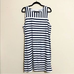 LOFT Outlet Nautical Striped Swing Dress Size XL